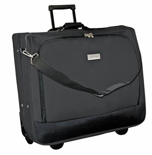 Geoffrey Beene Deluxe Rolling Garment Bag - Travel Garment Carrier With Wheels