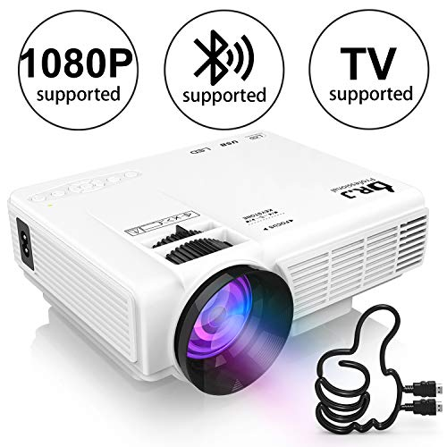 DR. J Professional HI-04 1080 Supported 4Inch Mini Projector with 170
