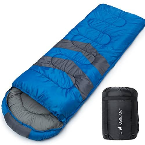 MalloMe Camping Sleeping Bag - 3 Season - Summer, Spring, Fall
