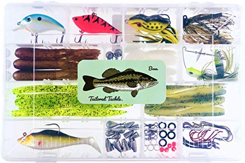 Tailored Tackle Bass Fishing Kit 77 Pcs.