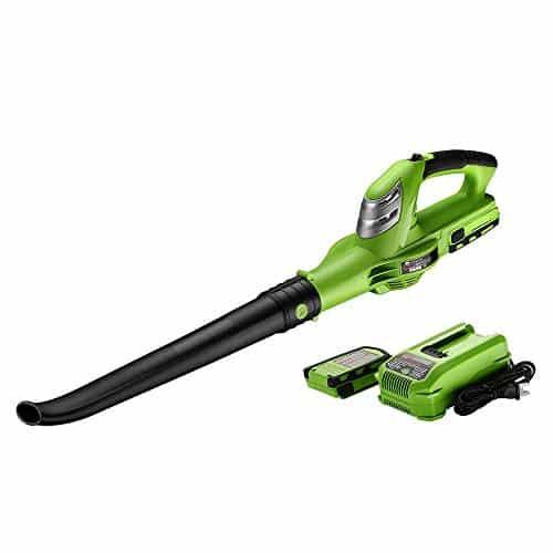 Best Partner 18V 130MPH Cordless Leaf Blower,Light-Weight,Single Speed,2.0 AH Battery Included