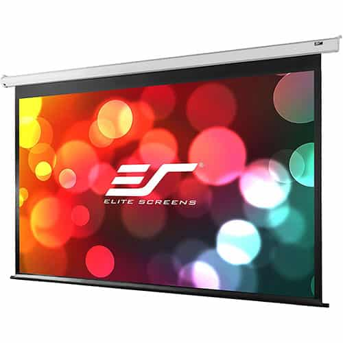 Elite Screens Projector Screen VMAX120XWH2 VMAX2, 120-inch 16:9, Motorized Drop-Down HD Projection, Wall Ceiling