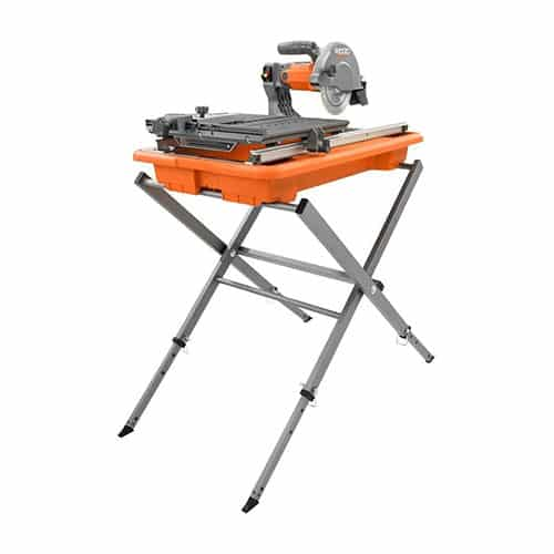 "Rigid R4030S 7"" Tile Saw with Foldable Stand"