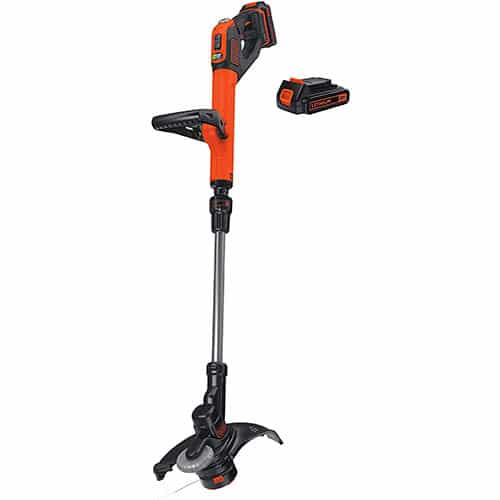 BLACK+DECKER LSTE525 20V MAX Lithium Easy Feed String Trimmer/Edger with 2 Batteries