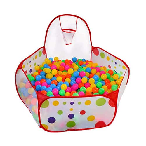 The fifth option is the KUUQA Ball Pit Play Tent with Basketball Hoop for Kids Toddlers