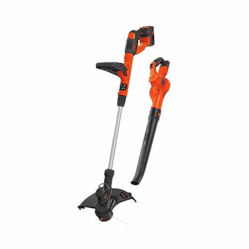 BLACK+DECKER 40V Max Cordless Sweeper & String Trimmer Combo Kit (LCC340C)