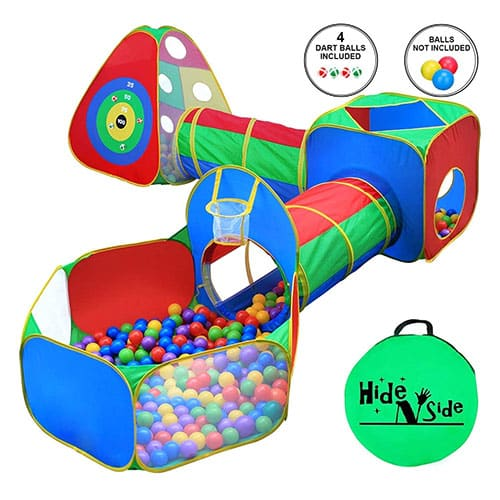 The eighth option is the Hide N Side 5pc Kids Ball Pit Tents and Tunnels