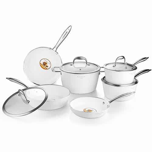 Cooksmark Non-stick Cookware Set Diamond-Infused Induction