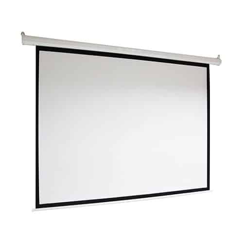ALEKO MSP100 Motorized Drop Down Projector Screen 16:9 with Remote Control 100 Inches