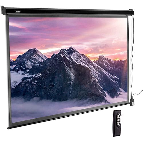 VonHaus 100 Inch Motorized Automatic Projector Screen with Remote Control, HD 4K
