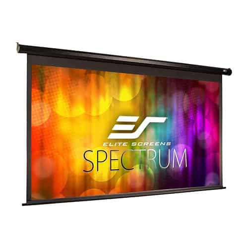 Elite Screens Spectrum Electric Motorized Projector Screen with Multi-Aspect Ratio Function, Home Theater 8k/4k Ultra HD Ready Projection, ELECTRIC100H