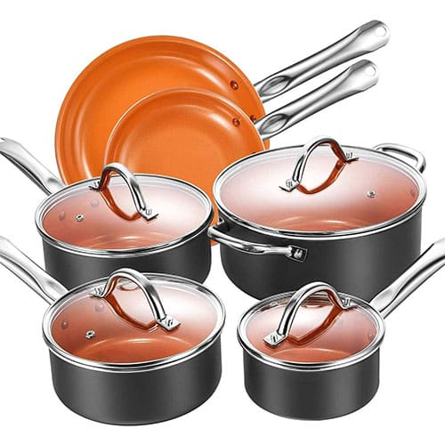 Cookware Set, Aicook 10-Piece Non-Stick Induction Cookware
