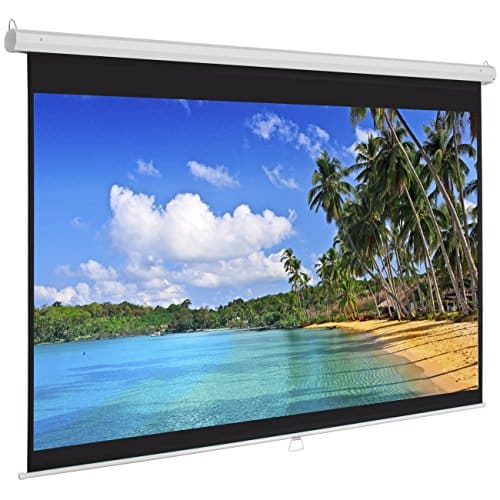 Best Choice Products 119in HD Indoor Pull-Down Manual Widescreen Projector Screen