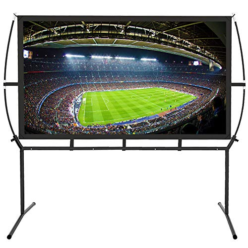 Portable Projector Screen with Stand, Indoor and Outdoor Movie Screen