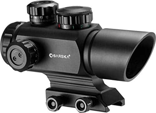 BARSKA AC12176 1x35 Red Dot Rifle Scope Illuminated Red/Green Multi Reticle with Mount
