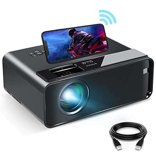 Mini Projector for iPhone, ELEPHAS 2020 WiFi Movie Projector with Synchronize Smartphone Screen