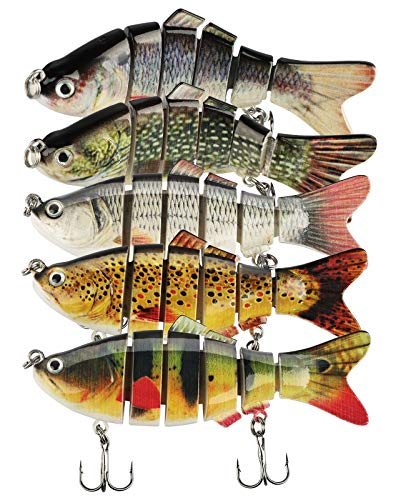 Linkstyle 5Pcs Fishing Lures for Bass