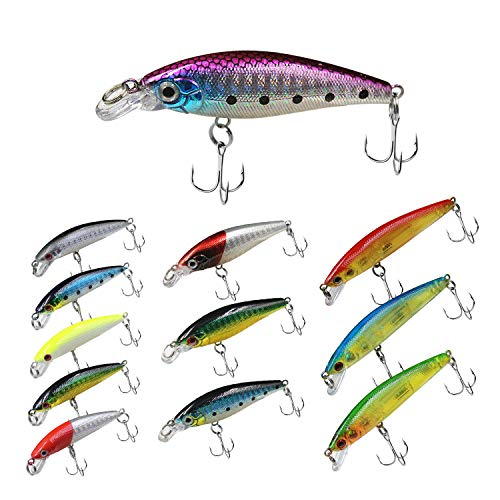 Topwater Bass Lures, Minnow Lures Crankbait Set
